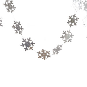 Girlande Schneeflocke set- Silber- decomazing.com