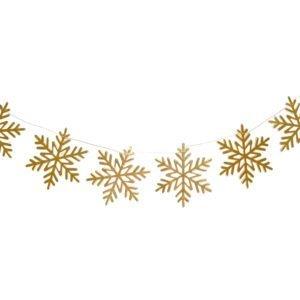Girlande Schneeflockensterne - Weiß Gold- decomazing.com